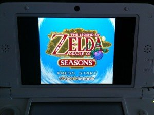 Zelda: Oracle of Seasons Ladebildschirm